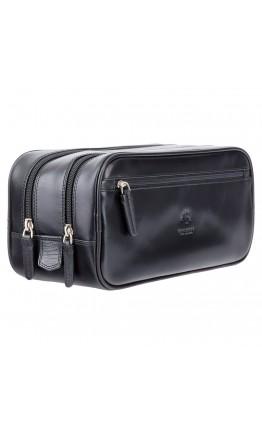 Мужской кожаный несессер-барсетка Visconti MZ100 Naples (Italian Black)