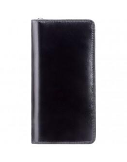Черное дорожное портмоне - клатч Visconti MZ101 Wing (Italian Black)