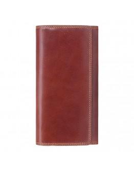 Коричневое кожаное портмоне Visconti MZ12 Maria c RFID (Italian Brown)