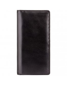 Черное кожаное портмоне Visconti MZ6 Turin c RFID (Italian Black)