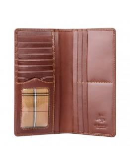 Коричневое мужское портмоне Visconti MZ6 Turin c RFID (Italian Brown)