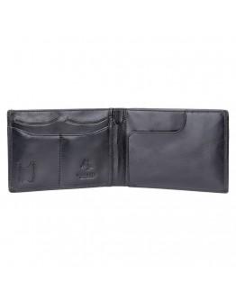 Черное мужское портмоне для путешествий Visconti MZ9 Jet (Italian Black)
