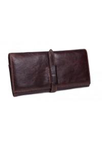 Кожаный мужской клатч коричневый Ms040B