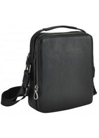 Кожаная черная сумка на 2 отдельных отделения NA50-1003A