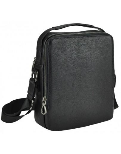 Фотография Кожаная черная сумка на 2 отдельных отделения NA50-1003A