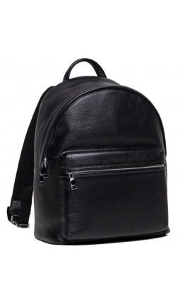 Кожаный черный мужской небольшой рюкзак NB52-0910A