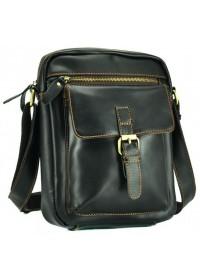 Черная кожаная вместительная сумка NM15-1783A-1