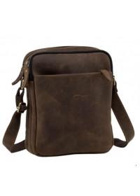 Кожаная сумка мужская на плечо коричневая NM15-2536C