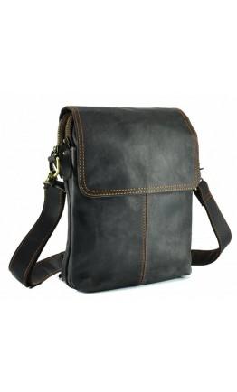 Кожаная сумка на плечо серого цвета NM15-2542-1DB