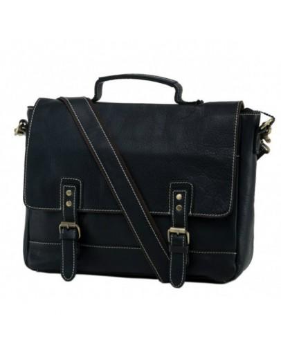 Фотография Кожаный мужской портфель черный NM15-2566A