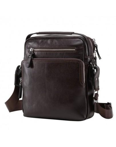 Фотография Вместительная коричневая мужская сумка NM17-0097-5C