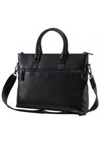 Кожаная черная мужская сумка для ноутбука NM17-1018-5A