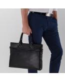 Фотография Кожаная черная мужская сумка для ноутбука NM17-1018-5A