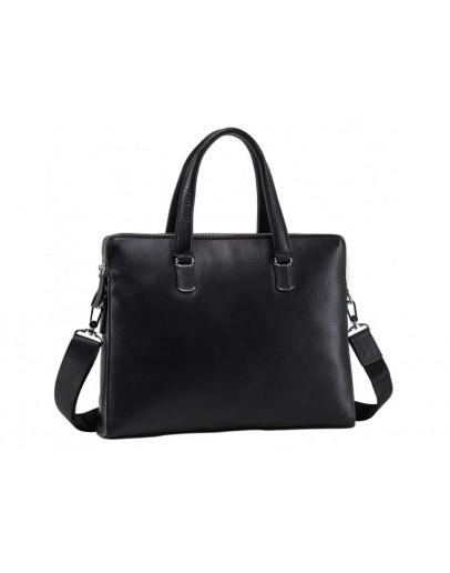 Фотография Кожаная черная мужская деловая сумка NM17-6304-5A