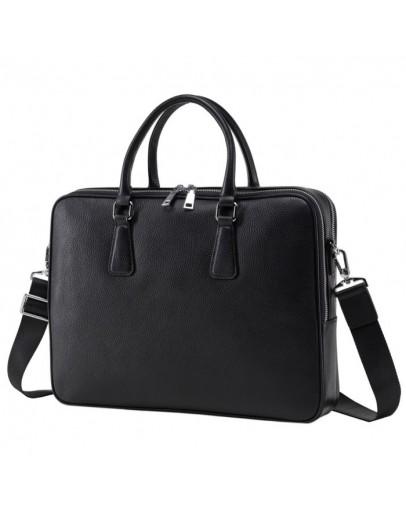 Фотография Портфель черный кожаный мужской NM17-9020-6A