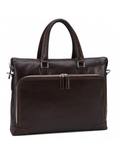 Фотография Коричневая мужская деловая сумка NM17-9065-5C