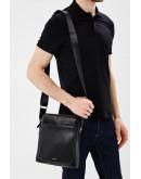 Фотография Черная кожаная мужская сумка на плечо NM17-9069-2A