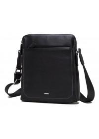 Черная кожаная мужская сумка на плечо NM17-9069-2A
