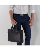 Фотография Черная сумка мужская кожаная деловая NM17-9080-5A
