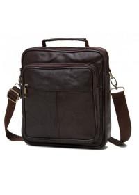 Кожаная мужская повседневная коричневая сумка NM24-103C