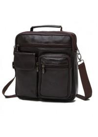 Коричневая вместительная мужская сумка NM24-105C