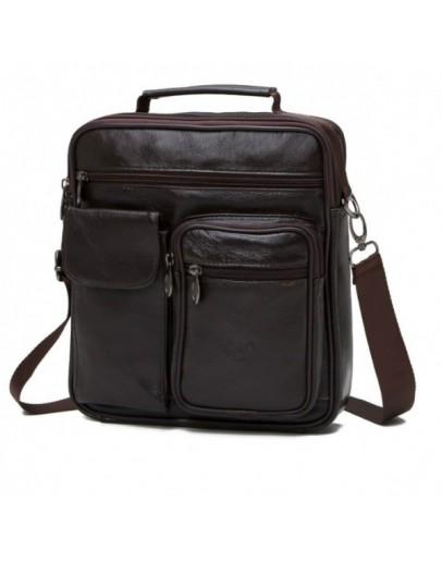 Фотография Коричневая вместительная мужская сумка NM24-105C