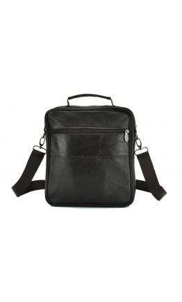 Коричневая кожаная мужская сумка недорогая NM24-108C