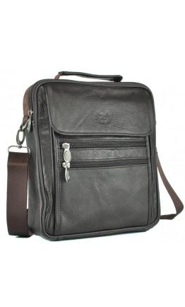 Коричневая недорогая мужская кожаная сумка NM24-109C