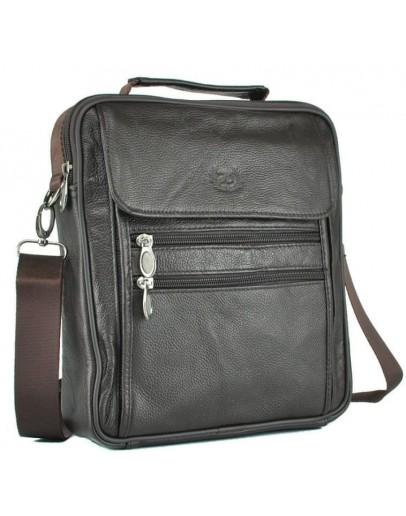 Фотография Коричневая недорогая мужская кожаная сумка NM24-109C