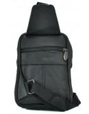 Фотография Черный небольшой кожаный мужской слинг NM24-136A