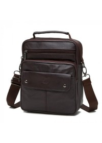 Мужская сумка на плечо кожаная NM24-212C