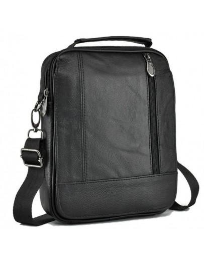 Фотография Черная мужская удобная небольшая сумка на плечо NM24-213A