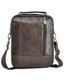 Фотография Коричневая сумка для мужчины кожаная NM24-213C