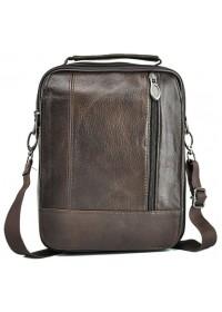 Коричневая сумка для мужчины кожаная NM24-213C