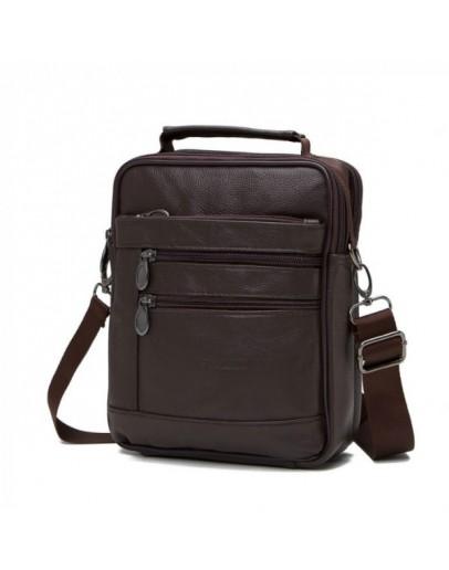 Фотография Коричневая удобная мужская повседневная сумка NM24-403C