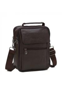 Мессенджер мужской кожаный коричневый NM24-404C