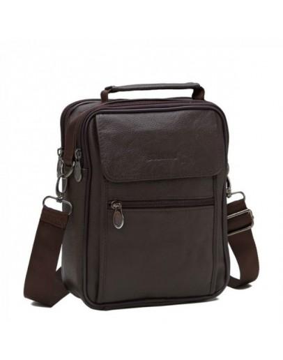 Фотография Мессенджер мужской кожаный коричневый NM24-404C