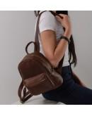 Фотография Коричневый женский кожаный рюкзачек NMW15-1830B