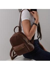 Коричневый женский кожаный рюкзачек NMW15-1830B
