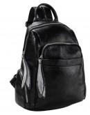 Фотография Черный женский рюкзак OLIVIA LEATHER NWBP27-7757A-BP