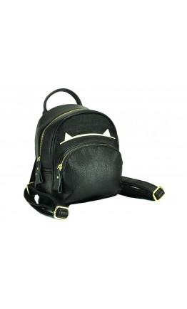 Черный кожаный небольшой женский рюкзак NWBP27-808A-BP