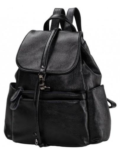 Фотография Черный рюкзак для женщин OLIVIA LEATHER NWBP27-8836A-BP