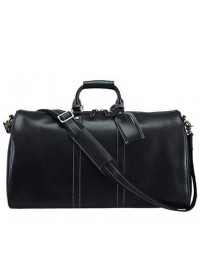 Черная дорожная сумка из натуральной кожи Nm15-0739A