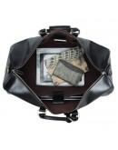 Фотография Черная дорожная сумка из натуральной кожи Nm15-0739A