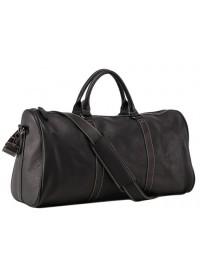 Серо-черная кожаная дорожная сумка Nm15-0739AR