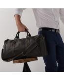 Фотография Серо-черная кожаная дорожная сумка Nm15-0739AR