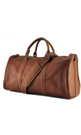 Мужская коричневая дорожная кожаная сумка Nm15-0739B