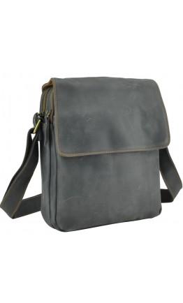 Кожаная серая сумка через плечо Nm15-2460G