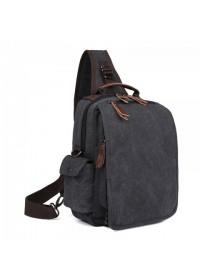 Текстильный мужской рюкзак черного цвета OEM-9031A
