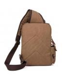 Фотография Тканевый кожаный мужской коричневый рюкзак OEM-9031C
